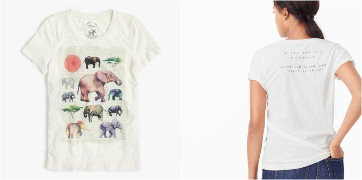 blusa conservación elefantes