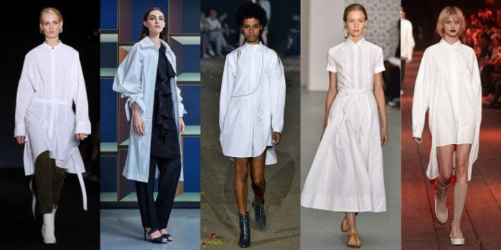 camisa blanca vestido