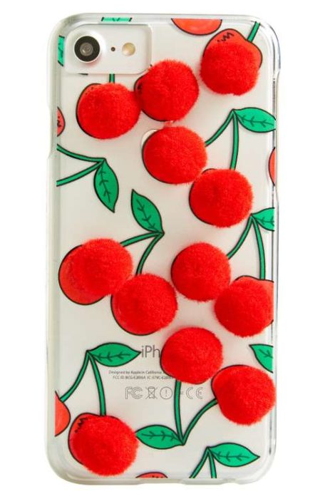 cherry pom pom case