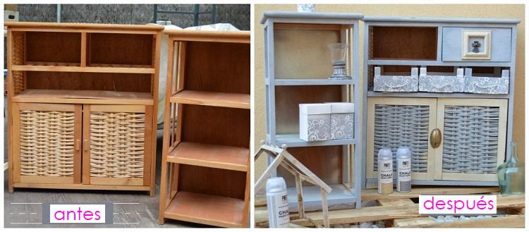 15 grandes ideas para renovar tus viejos muebles - Pintar muebles laminados ...