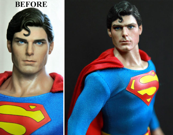 Christopher reeve superman doll