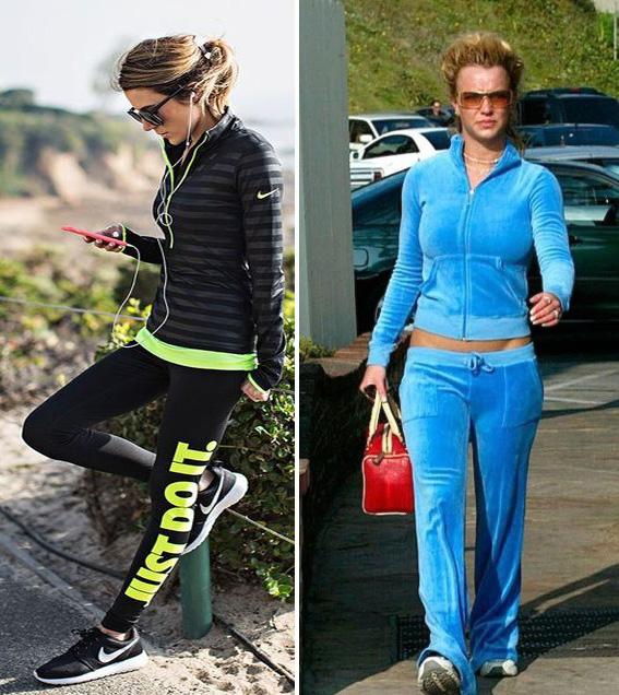 ropa deportiva antes y despues