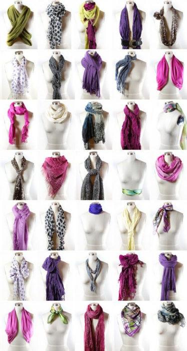 bufandas y nudos