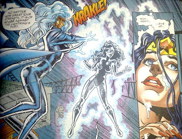 comic marvel vs dc mujer maravilla contra tormenta