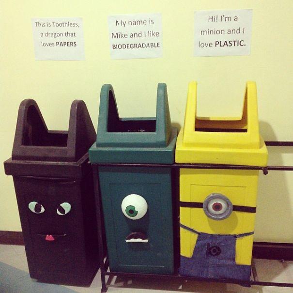 botes de basura reciclaje
