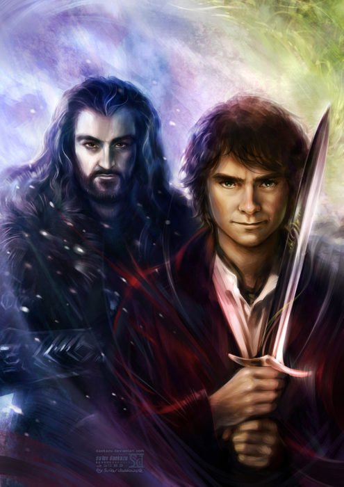 bilbo baggins y thorin escudo de roble