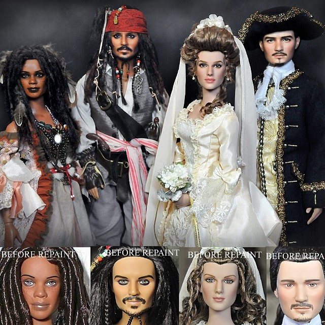 pirates of the caribbean dolls