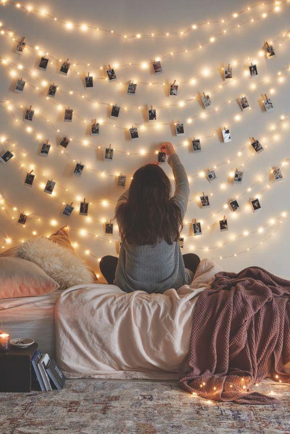 decoracion habitacion luces fotos