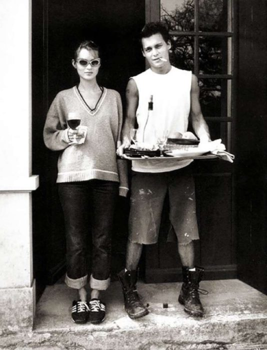 kate moss y johnny deep