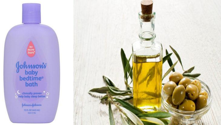 shapoo de bebé y aceite de oliva