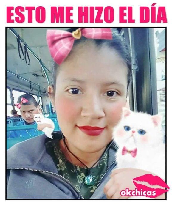 meme ok chicas mujer con gatito