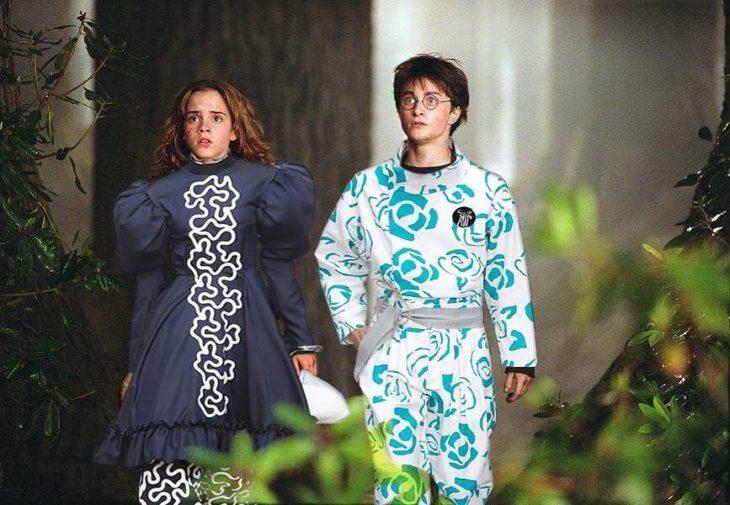harry y hermione en jw anderson