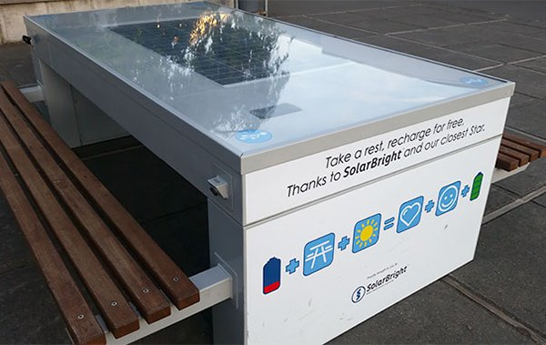 mesa solar cargador