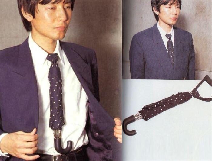 sombrilla corbata