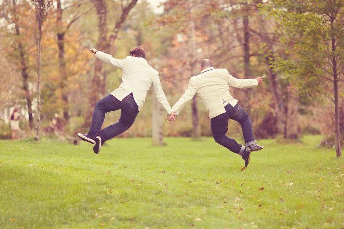 pareja feliz