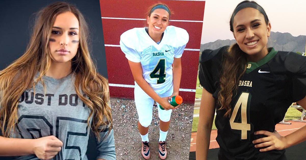Becca Longo podría ser la primera mujer en jugar dentro de la NFL