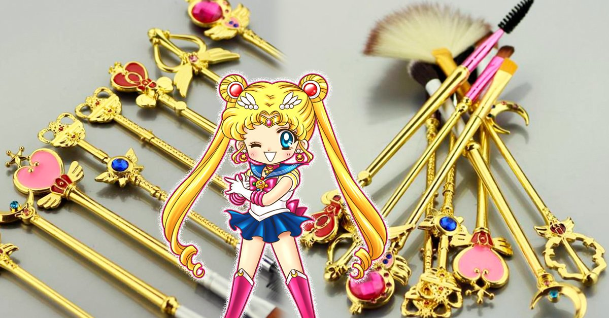 Si eres adicta al maquillaje desearás estas brochas de Sailor Moon