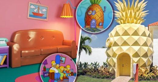 Casas de dibujos animados llevadas a la realidad
