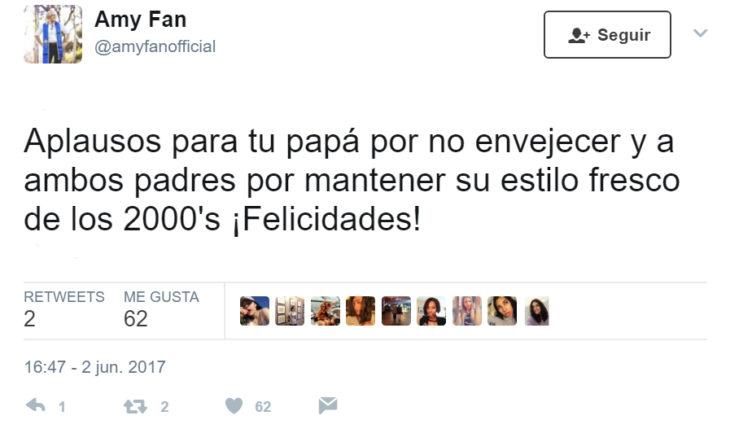 Comentarios en twitter a chica por su graduación