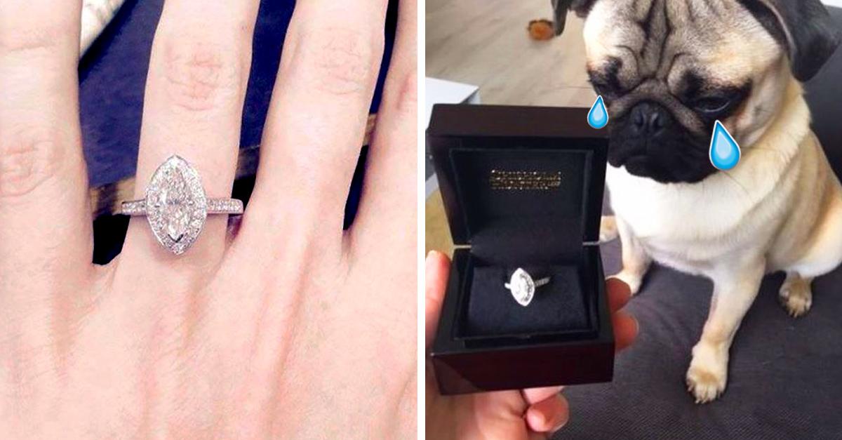 Subasta su anillo de compromiso en Internet al descubrir que su novio la engaña... con otro hombre