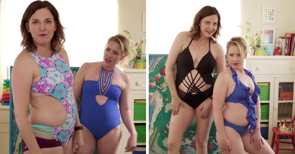 Graciosas mamás explican porque los trajes de baño son una broma