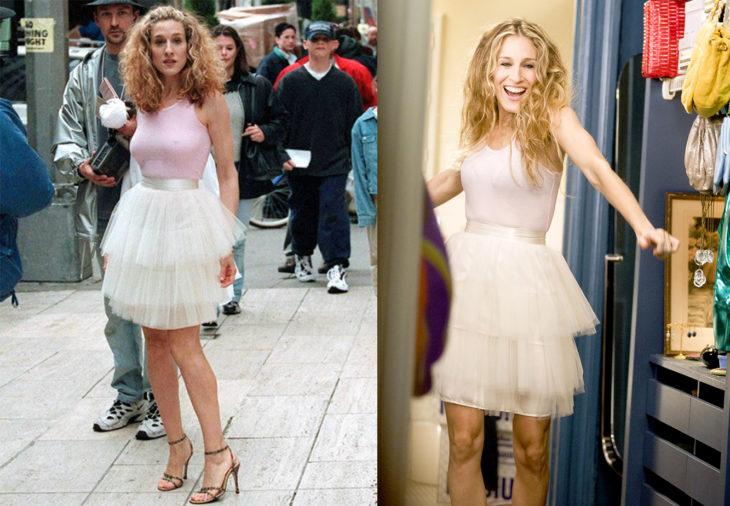 Carrie usando un tutu en la serie sex and the city