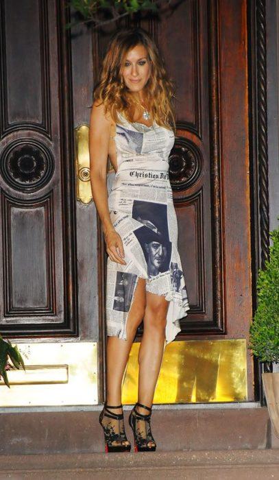 Vestido de periódico de Carrie