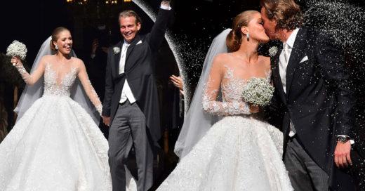 El increíble vestido de novia de la heredera Swarovski parece salido de un cuento de hadas