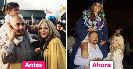 Esta chica recrea la foto de graduación de su madre