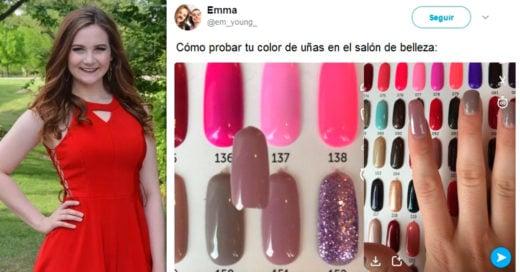 Esta chica utilizó Snapchat para seleccionar su próximo color de uñas, Internet no deja de usar su truco