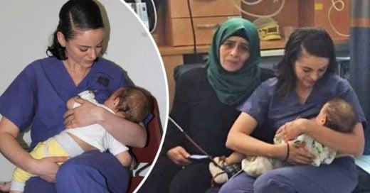 Esta enfermera amamantó a un bebé en medio de la guerra
