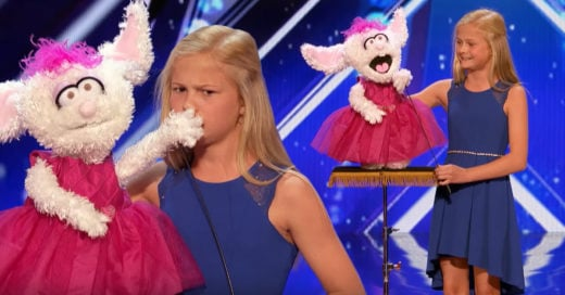 Esta niña sorprendió al mundo entero junto su marioneta; Internet no deja de hablar de ella