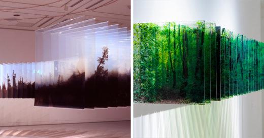 Este artista japones crea impresionantes paisajes multidimencionales con fotografías