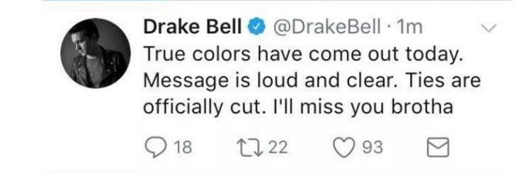 Mensajes en twitter de Drake hacia josh por la invitación a su boda