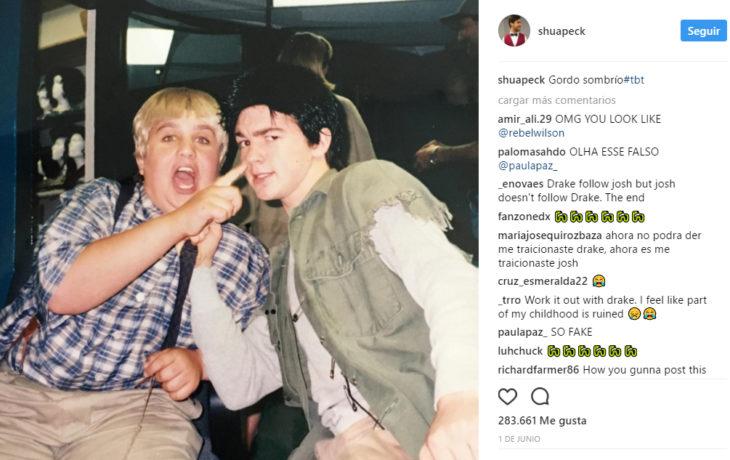 Foto en instagram de drake y josh