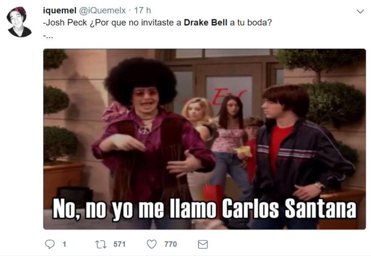 meme invitación de Drake a la boda de josh