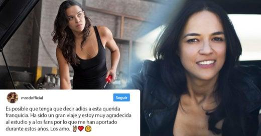Michelle Rodriguez podría desaparecer de Rápidos y Furiosos; Internet está conmocionado