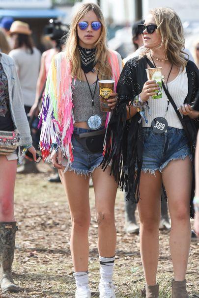Chicas en un festival de música