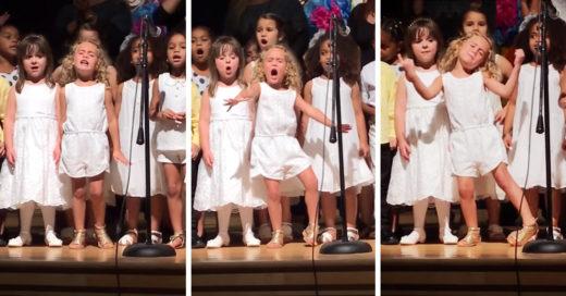 Niña de 4 años roba el show escolar al interpretar una canción de Moana; Internet enloquece