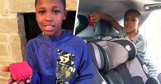 Niño inventa un dispositivo que evitará que los bebés mueran en los coches a causa del calor