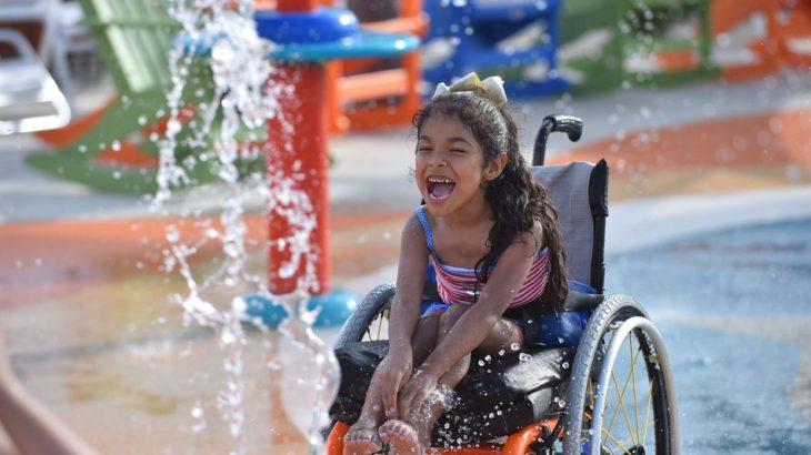 Parque acuático para personas con discapacidades