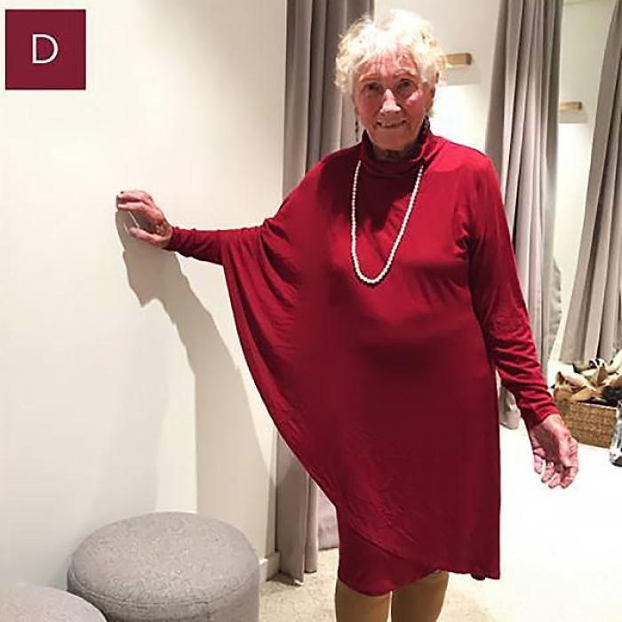 Señora modelando vestido