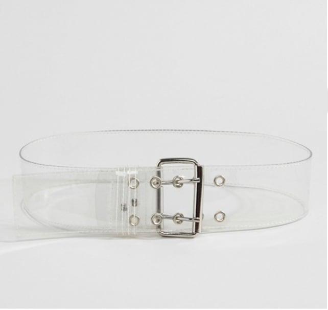 Cinturón transparente