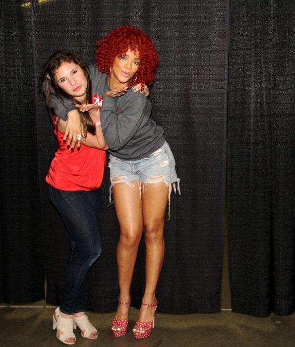 Rihanna y fan