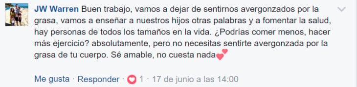 Comentarios en facebook niña que llamó gorda a su mamá