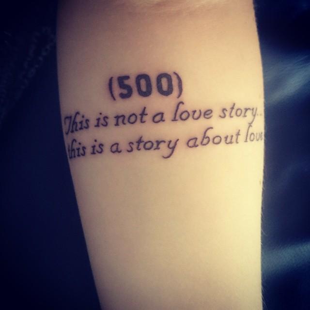 Tatuaje de 500 dias con summer