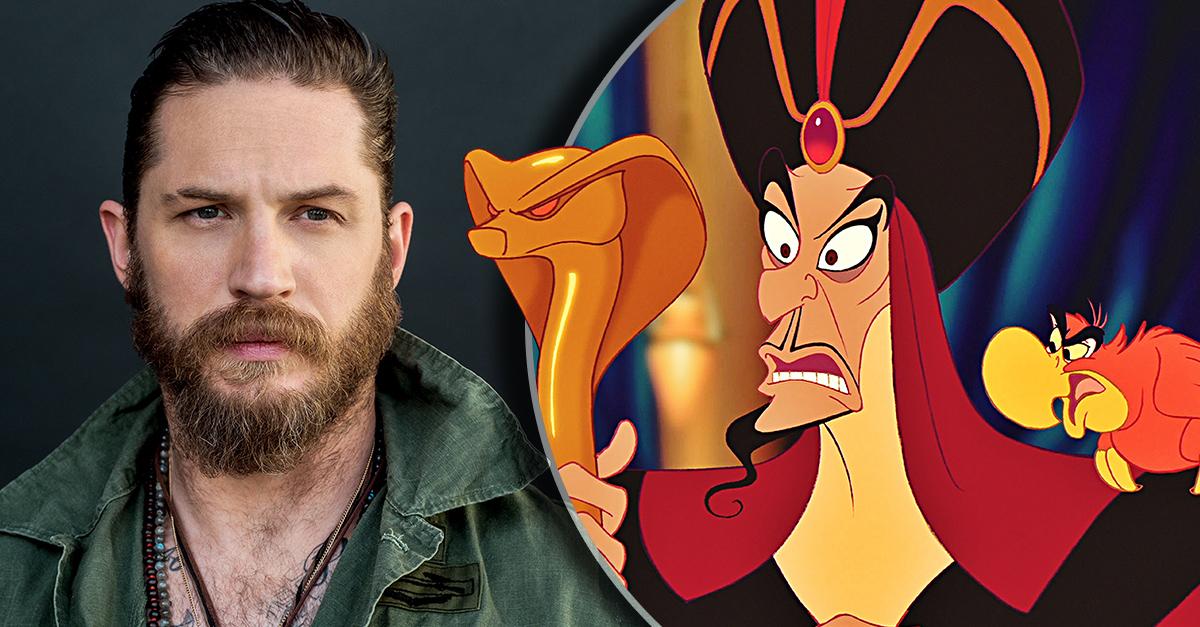 Tom Hardy interpretaría a Jafar en la versión 'live-action' de Aladdín; sería el villano más sexi