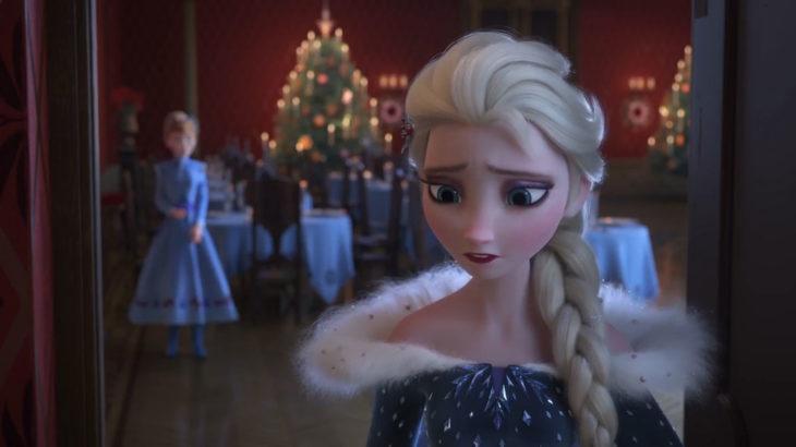Elsa rubia con trenza