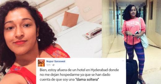 Hotel en la India negó el hospedaje a una joven artista de 22 años por viajar sola y soltera