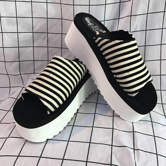 Zapatos con plataformas de los 90's